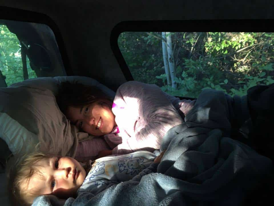 camping with babies cosleeping