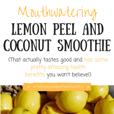 A DELICIOUS Lemon Peel Smoothie Recipe with Tons of Health Benefits!