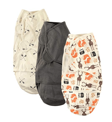 keep baby warm while camping with wearable blanket or a swaddle