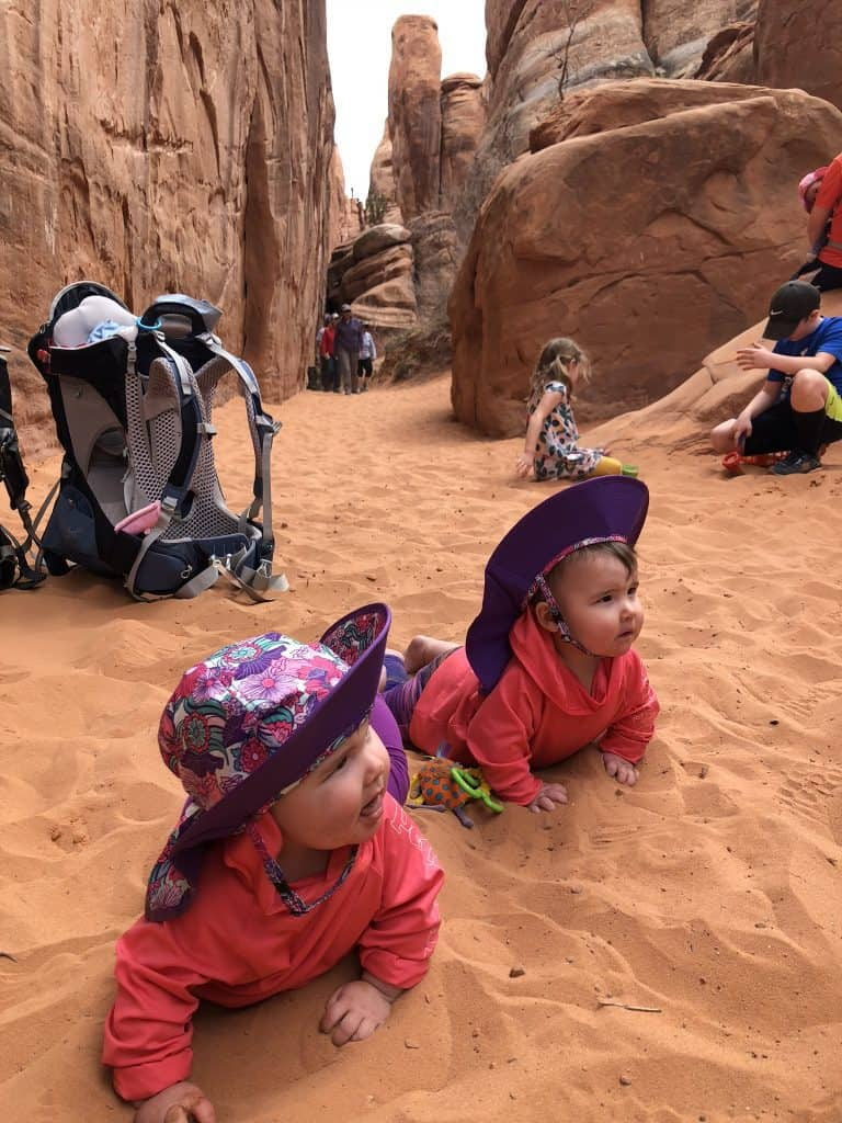 Arches National Park Sand Dune Arch Hikes with kids