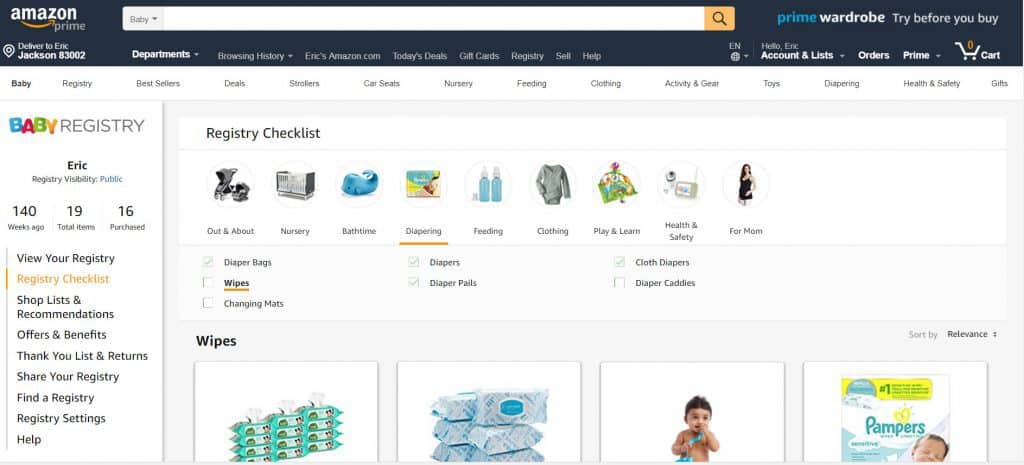 The best baby registry is Amazon Baby registry