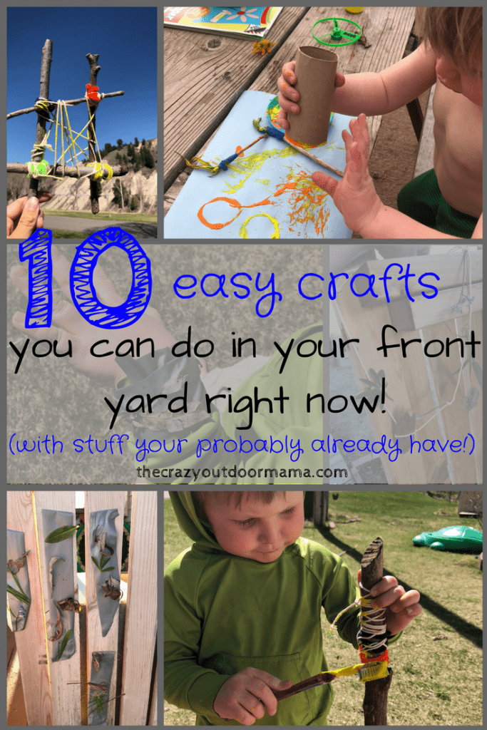 outdoor crafts with toddlers