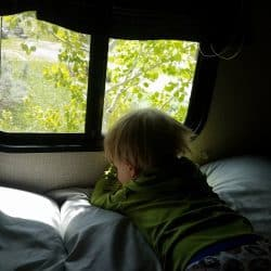 PERFECT toddler RV camping sleep in just a few steps!