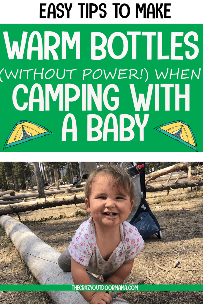 how to make a bottle while camping with baby