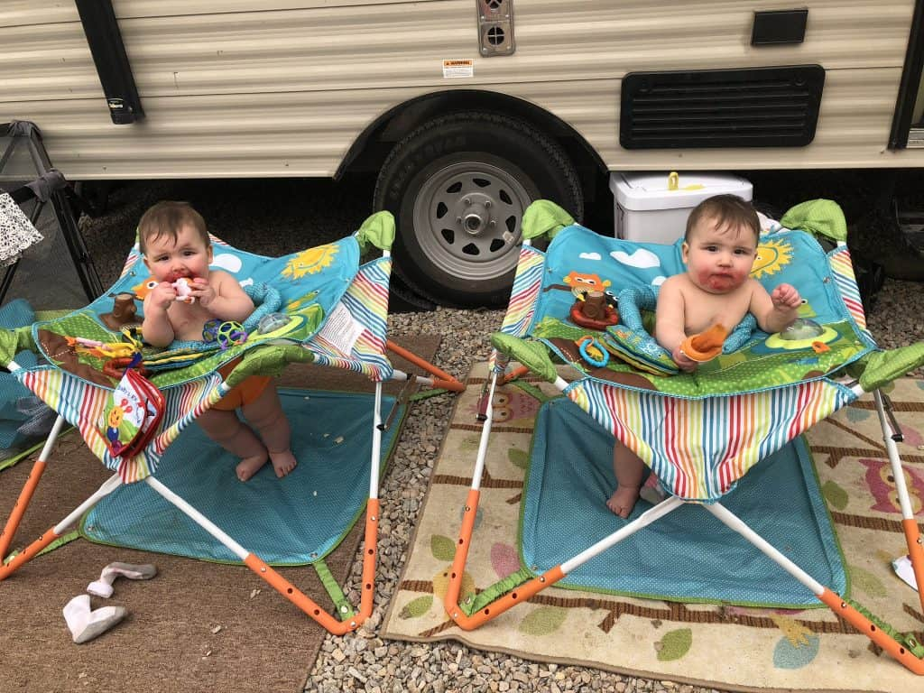 how to camp with babies and keep them entertained
