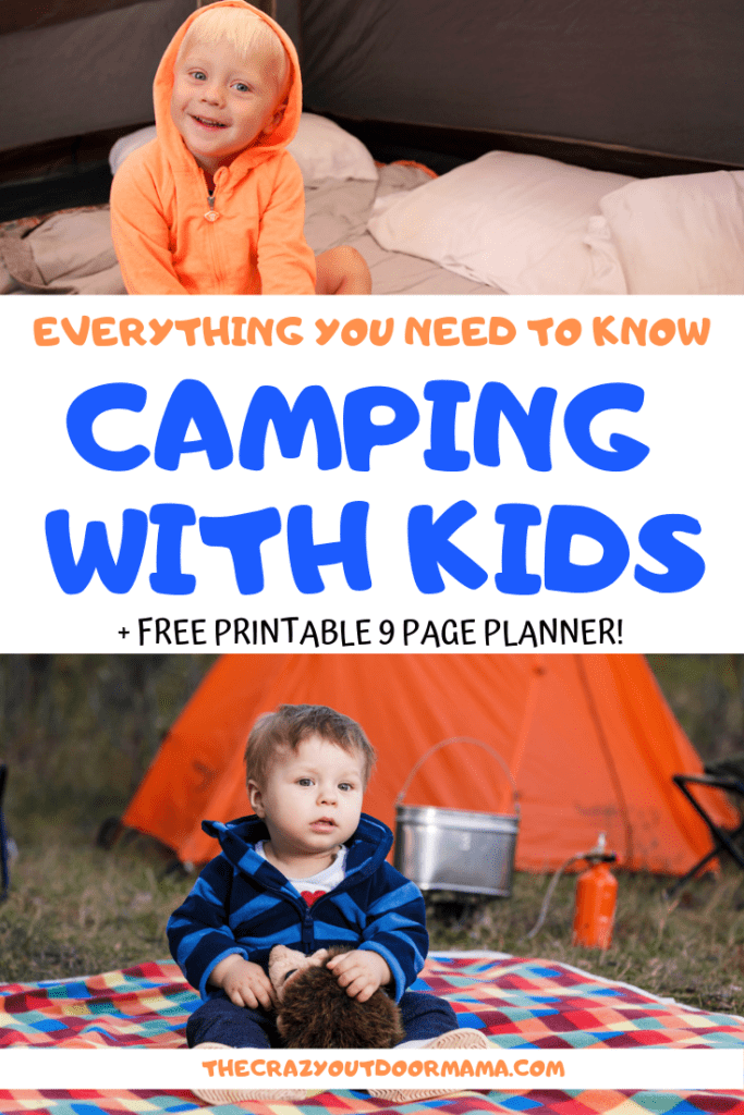 find out what you need to camp with your kids including a packing list, meal plan and fun camp games and activities!