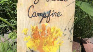 Hand Print Campfire Craft - A Camping Keepsake!
