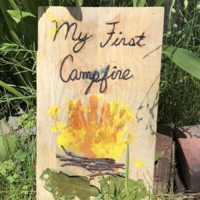 Hand Print Campfire Craft – A Camping Keepsake!