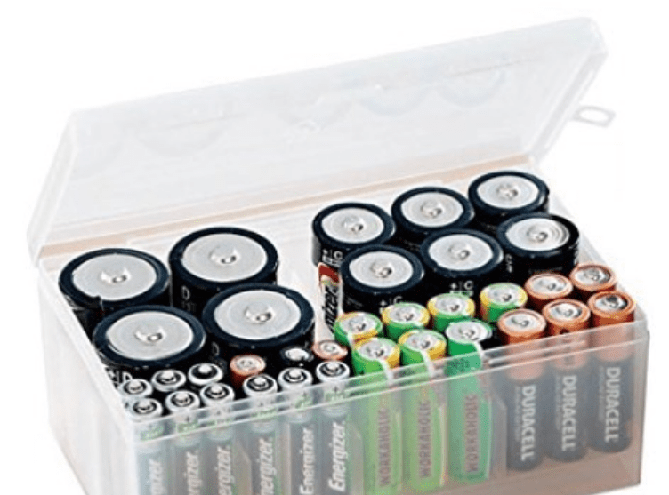 battery storage idea for camping