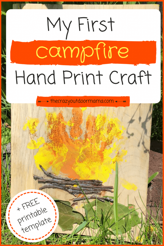 Hand Print Campfire Craft - A Camping Keepsake! – The Crazy