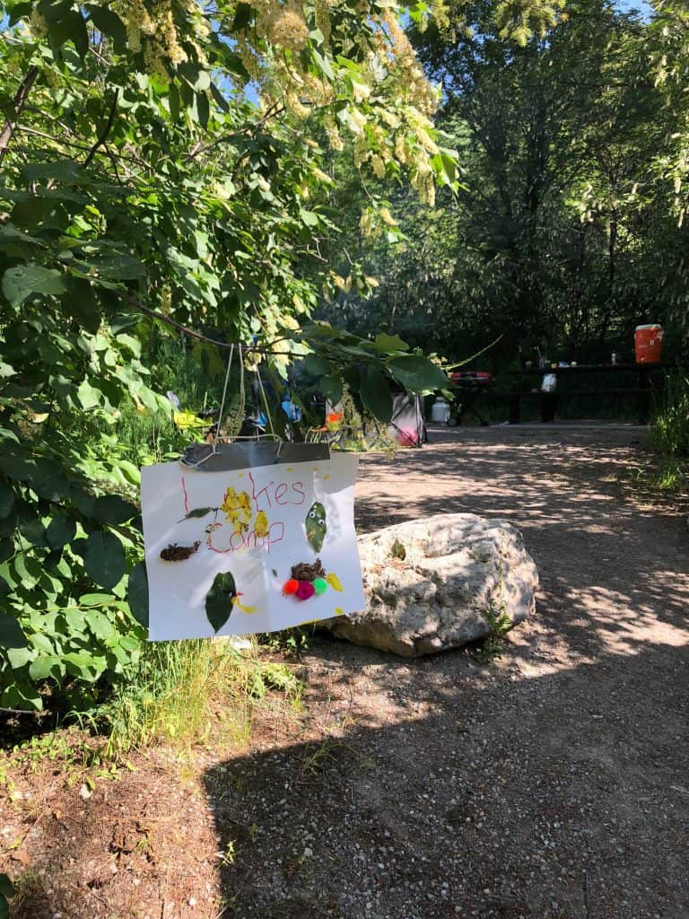 how to make a campsite sign with your kids
