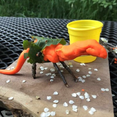 Fun Play Doh Crafts with Items from Nature!