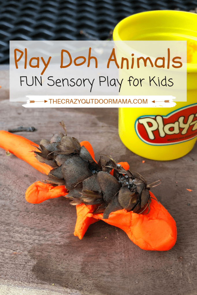 If you are looking for fun sensory activities for preschoolers or toddlers, try this play doh animal creation with nature items! It's a perfect craft to do outside with the kids, and the sensory aspect will be fun and challenging! This is such an easy sensory activity to introduce, as most kids already love play-doh! This play doh craft will be sure to keep kids busy for awhile!