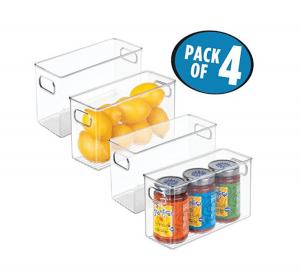 rv refrigerator organizing ideas with bins