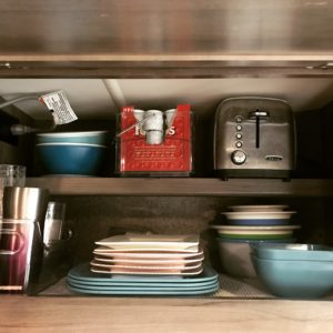 how to declutter rv counterspace