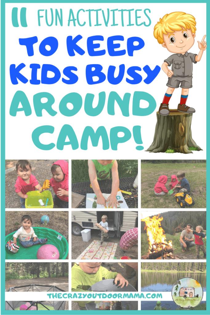 11 fun activities to keep kids busy around camp