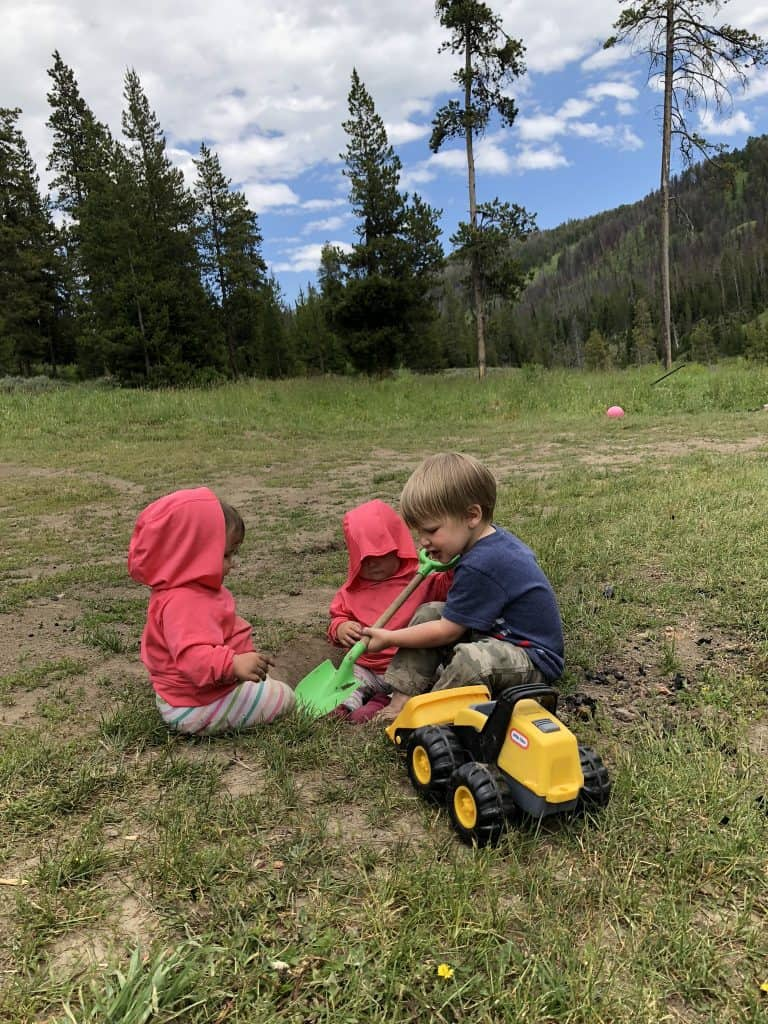 Open campsites are easier for little kids camping