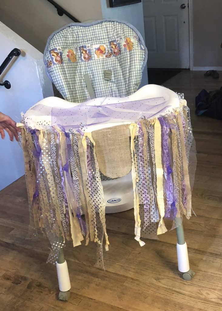 how to make a 1st birthday highchair banner