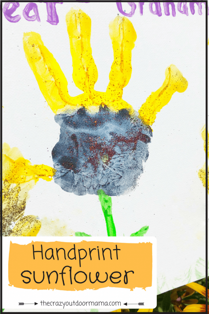 Diy Cute Sunflower Handprint Craft For Kids Great Gift For Mom Or