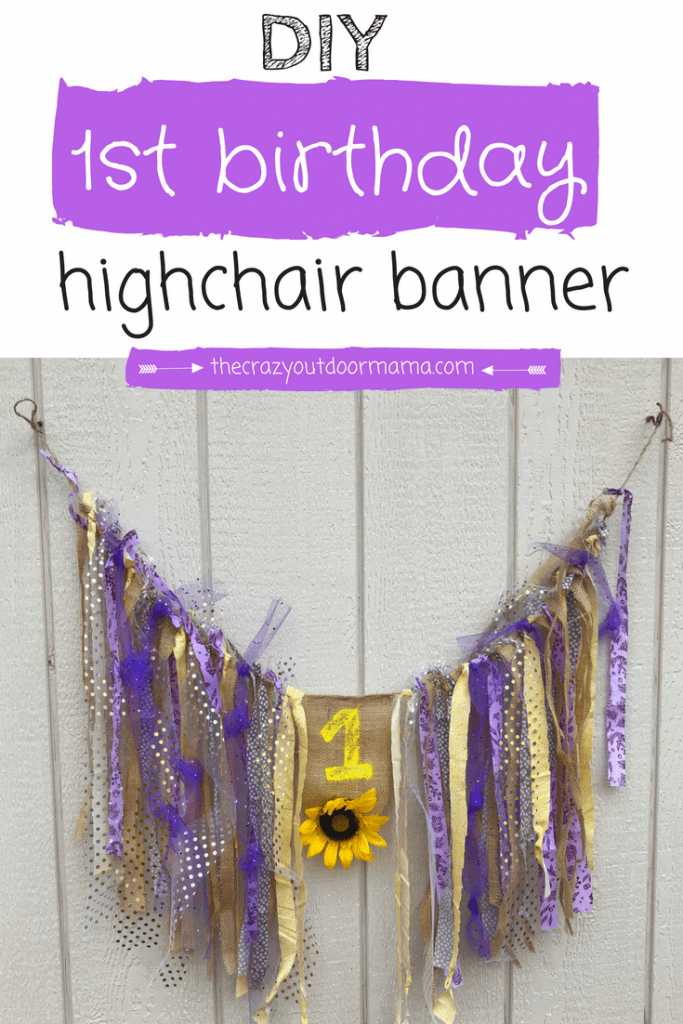 Diy Cute Shabby Chic Highchair Banner Tutorial For Baby S