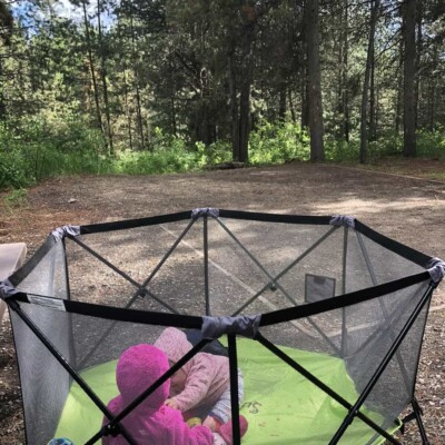 how to keep babies safe while camping and entertained