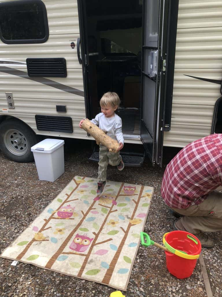 keep kids busy around camp with fun chores