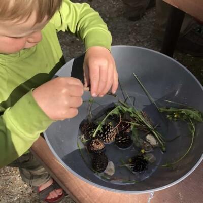 Sensory Soup – A Fun Kid's Camping Activity