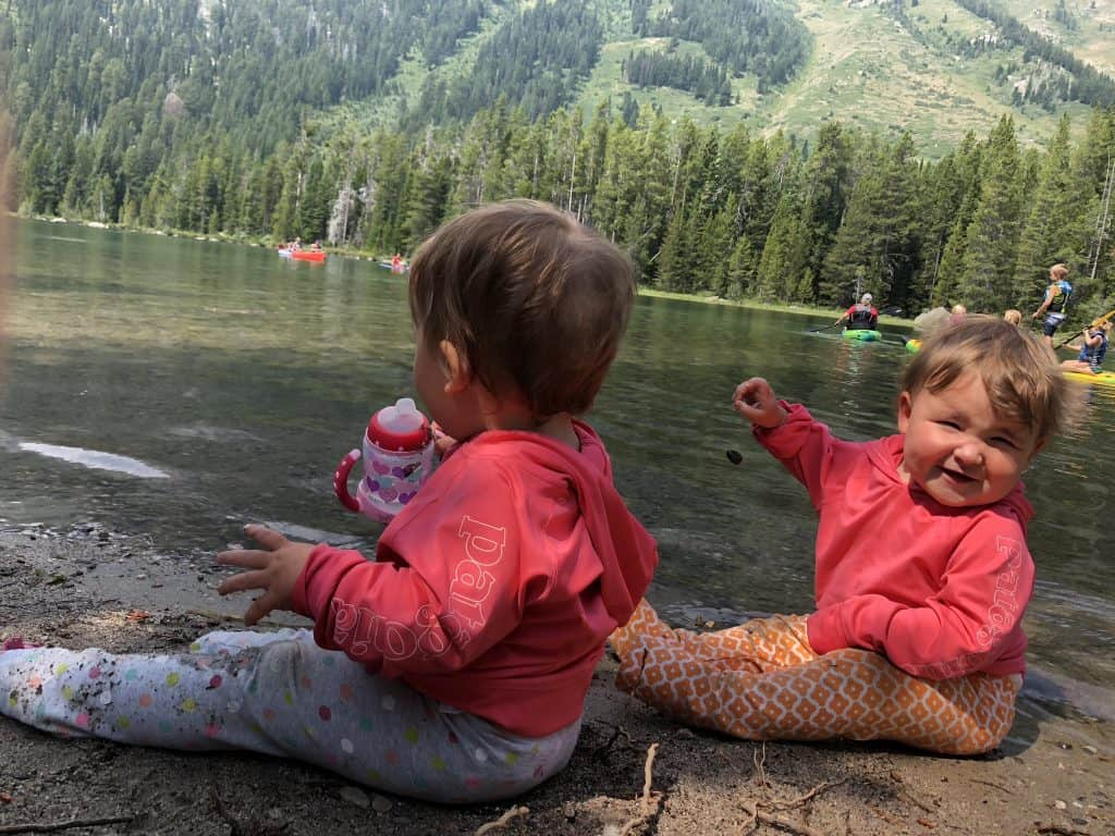 find a campsite near water when camping with toddlers and babies
