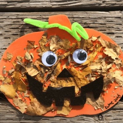 easy autumn kids craft with leaves