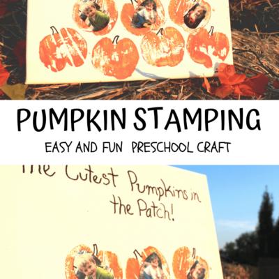 Fun Pumpkin Stamping Craft for Preschoolers