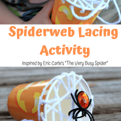 "Fun and Easy ""The Very Busy Spider"" Lacing Activity for Kids!"