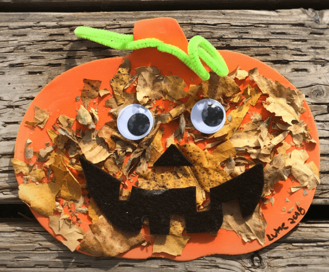preschooler or toddler leaf craft for fall activity