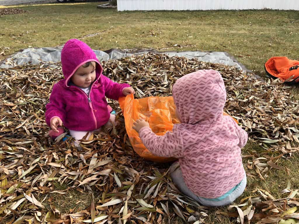 fun pumpkin leaf bag as a fall tradition