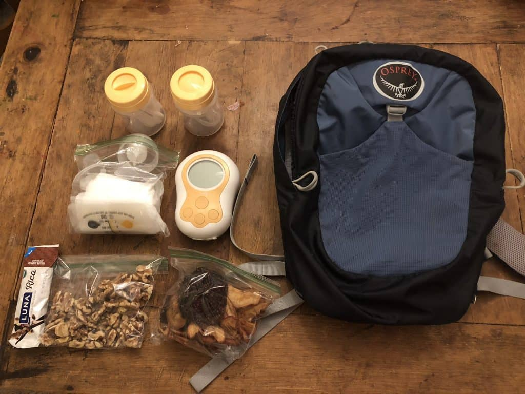 what to bring hiking if pumping or breastfeeding