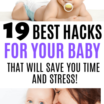 If you're pregnant or have a newborn, check out the best advice for moms with these 19 best hacks and tips for your baby! Three kids in, I've figured some stuff out.. and I really wish someone would have told me before I had my first!