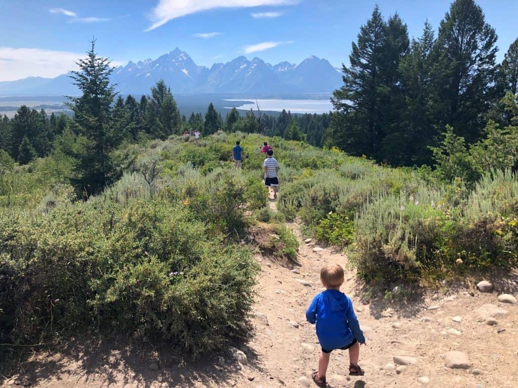 be ready for a hike when camping with kids