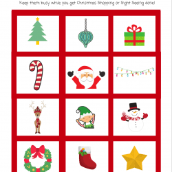 CUTE and FUN Christmas Bingo Scavenger Hunt Game for Kids [Printable]