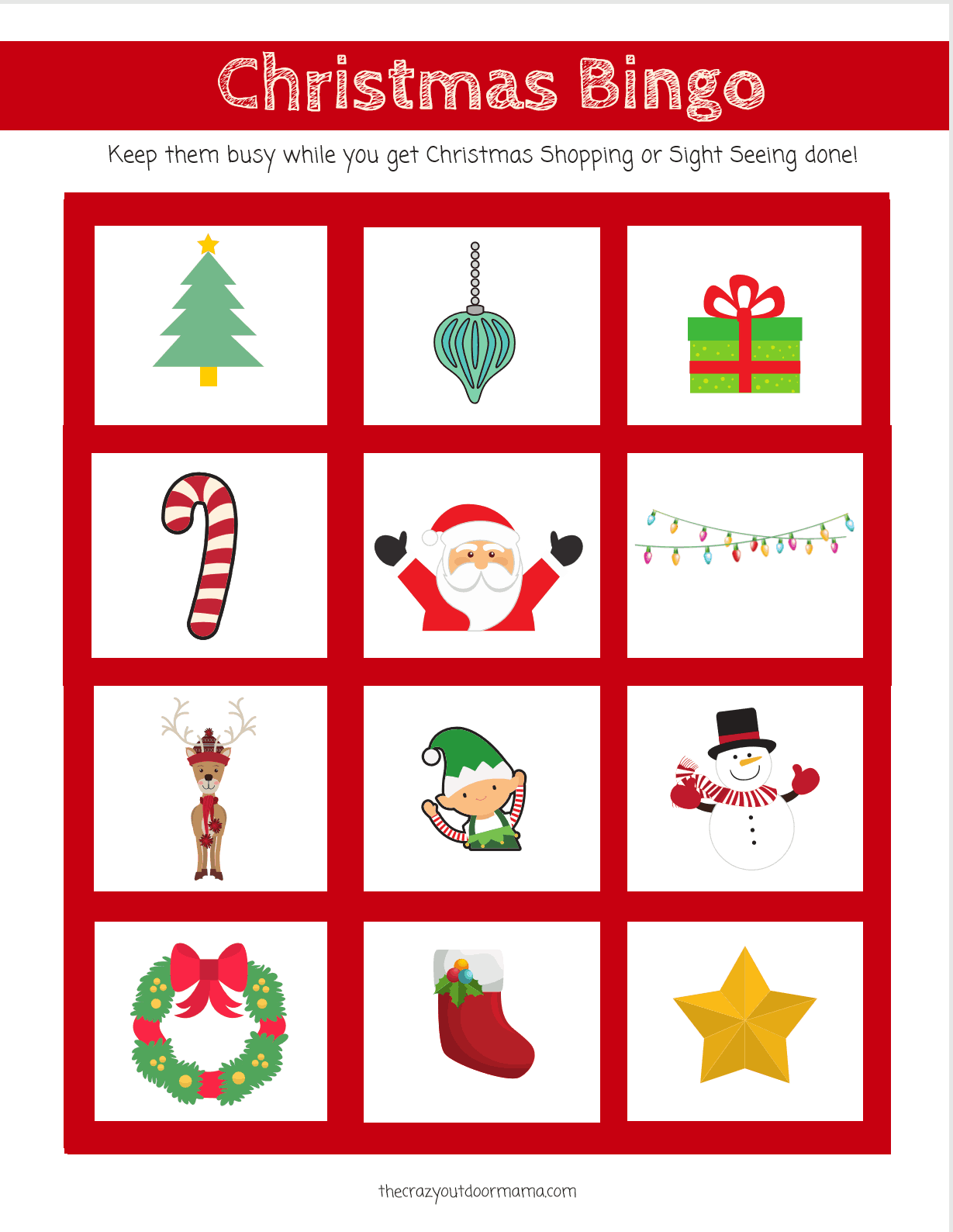 photo about Printable Christmas Bingo called Adorable and Pleasurable Xmas Bingo Scavenger Hunt Video game for Children