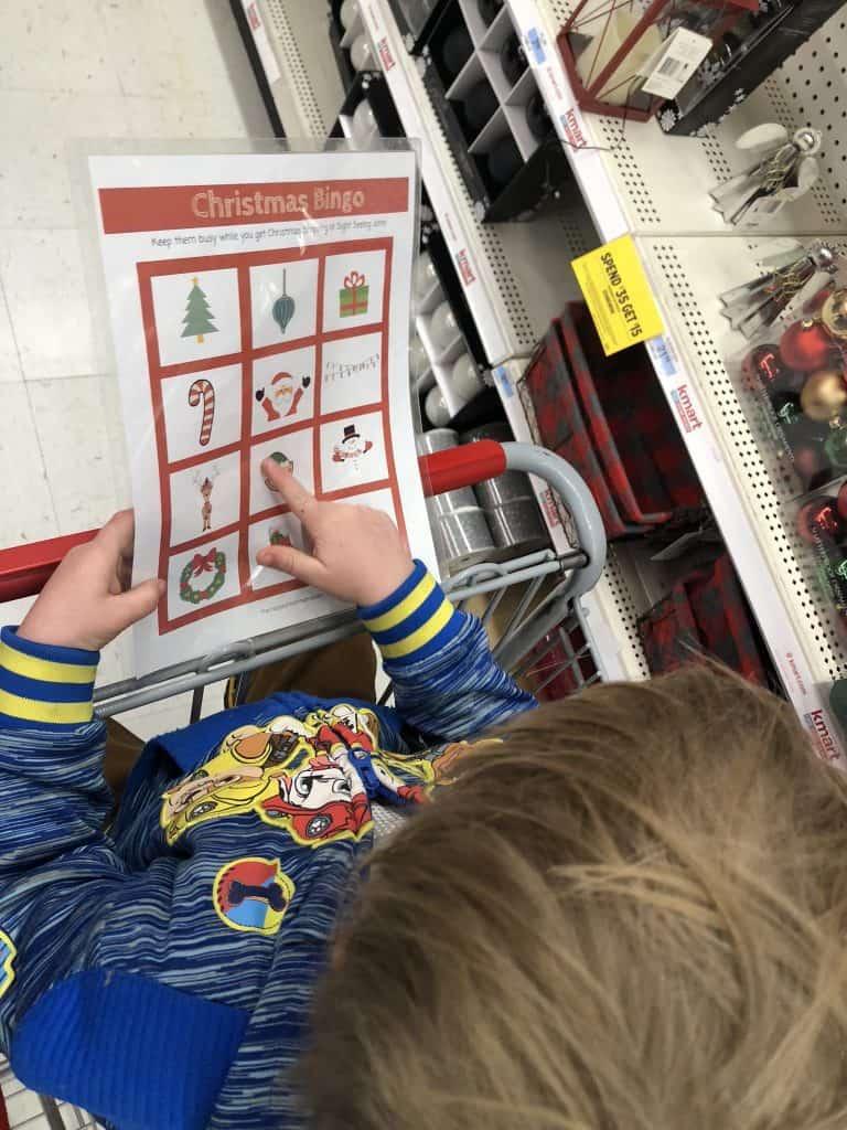 Christmas printable for kids bingo