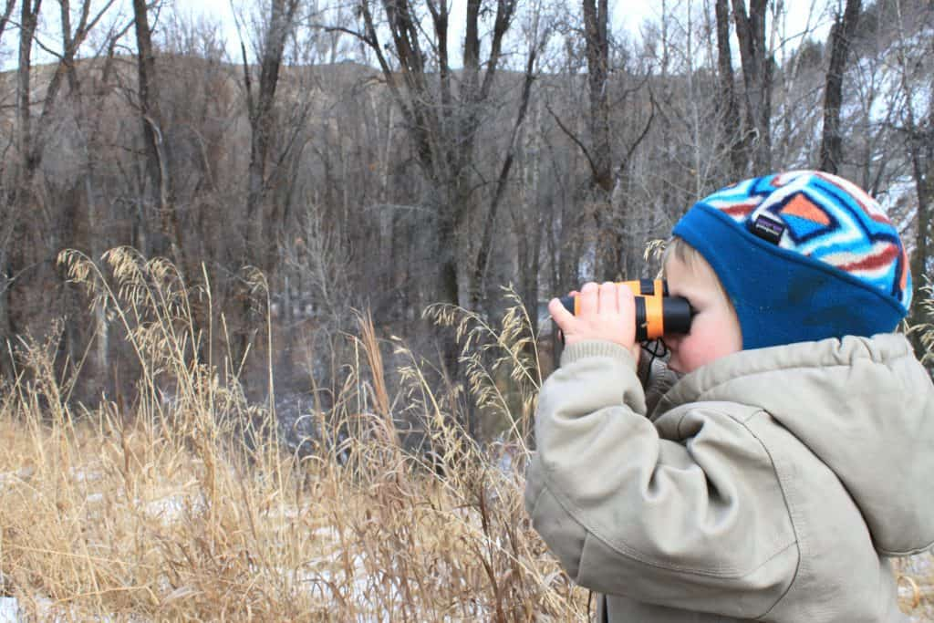 outdoor activities for little kids with binoculars