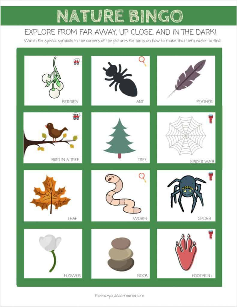 graphic about Fall Scavenger Hunt Printable referred to as Character Scavenger Hunt for Young children and Minimal Explorers