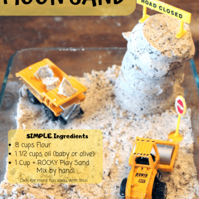 Construction Zone Moon Sand DIY Recipe!