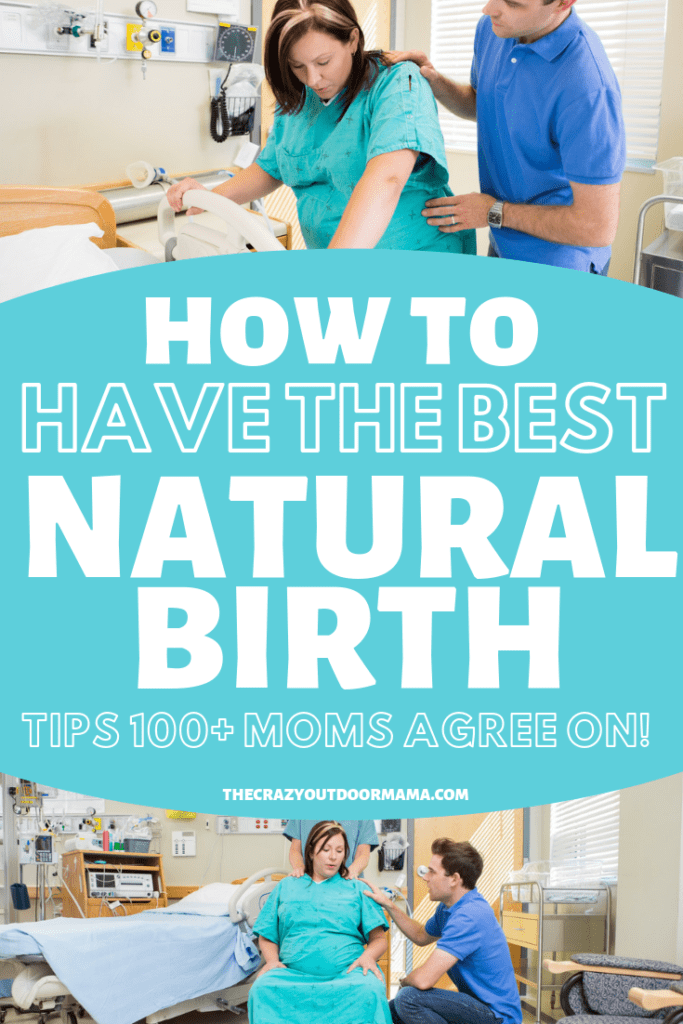 Learn how to have an amazing labor and delivery naturally with these tips! Find out the best positions for labor, how to manage pain relief, and get a free printable natural birth plan pdf to bring to the hospital so that everyone knows what your birth plan is!