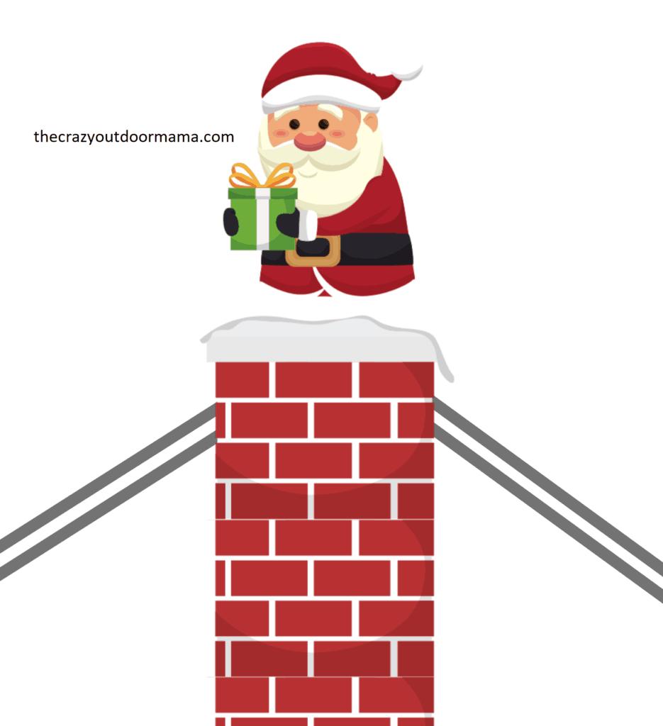 picture regarding Santa Printable named Entertaining Santa Craft for Youngsters - Peek A Boo Santa! [No cost Printable