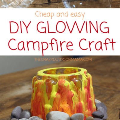 Easy and Fun GLOWING  Campfire Craft (Paper Free Upcyle They'll Love!)