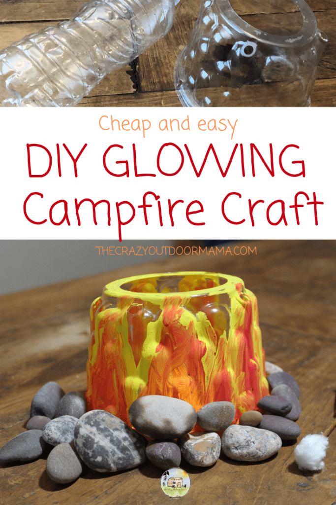 This kids camping craft is perfect for home or a camping themed party at school! Kids will love this easy camping craft, especially when they see it flicker and glow!