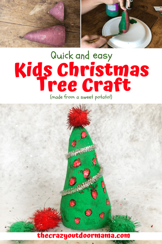 Kids christmas crafts are often way too complicated - check out this christmas craft that is perfect for everyone from preschoolers to big kids! It's quick and easy, and pretty cheap! Have fun with this easy kids christmas craft!