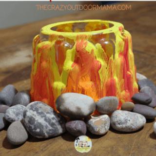 glowing campfire craft