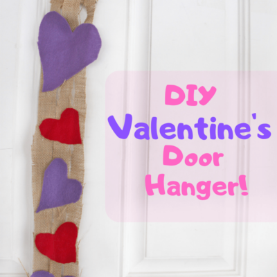 Easy and Pretty DIY Valentine's Burlap Door Banner