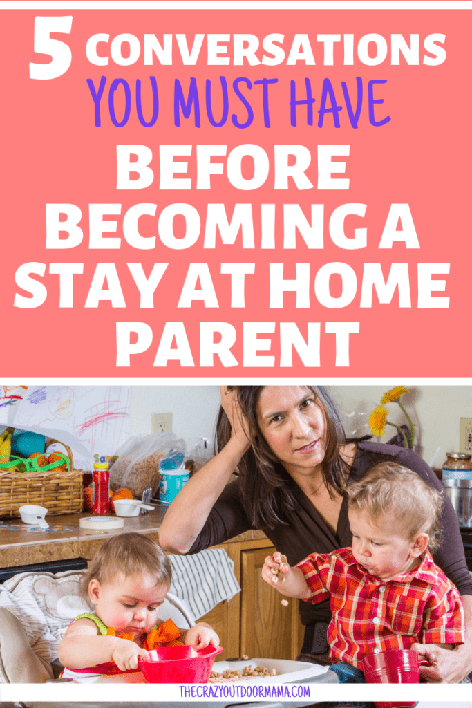 When you make the choice to live on one income and become a stay at home mom, the benefits for the family are awesome... but it can feel pretty hard to survive on one income first! check out the convos to have before making the dive to stay at home!